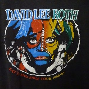 1986 David Lee Roth Concert Tour Tshirt Large